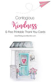 Printable Thank You Cards Contagious Kindness Tags Free Printable Thank You Cards