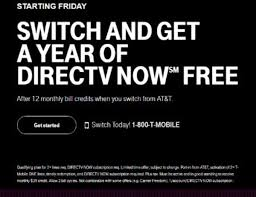t mobile lures at t wireless subs with free year of directv now