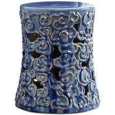 cobalt blue ceramic garden stool ceramic garden stool quick ship a liked on featuring home outdoors