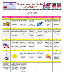 Preschool Activity Template Free Monthly Event Calendar ...