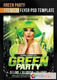 Green Party Flyer Green Party Flyer Psd Template Facebook Cover Free