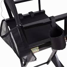 professional makeup artist directors chair wood light weight foldable black new hw46460