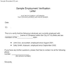 Employment Verification Letter Form Sample Templates Sample