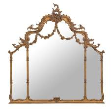 french ornate overmantle mirror