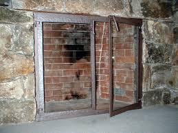 glass door fireplace screens