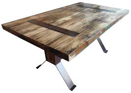cheap reclaimed wood furniture. Reclaimed Wood And Metal Dining Table Cheap Furniture