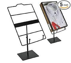 T Shirt Display Stand Extraordinary Amazon 32 Pack Of Black Countertop T Shirt Display T Shirt Rack
