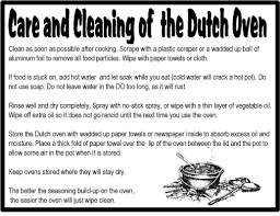 Dutch Oven Cooking Chart Do It The Silvermine And His