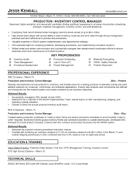 inventory control specialist resume objective fax examples