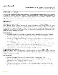 Store Manager Job Description Resume Inspirational Sample Resume For