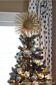 DIY Starburst Tree Topper | 15 DIY Christmas Tree Topper Ideas