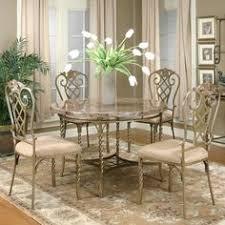 celestial five piece dining set antique golden bronze cappuccino x