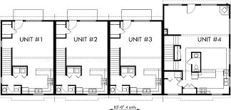 4 Plex Plans Fourplex With Owners Unit Quadplex F551Quadplex Plans