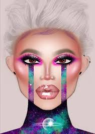 i will create a makeup look on my face chart
