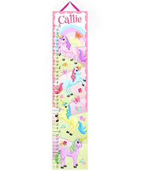 Toad And Lily Canvas Growth Chart Pretty Unicorn Personalized Growth Chart Kids Children Height Chart Ruler Chart Girls Growth Chart Gc0172