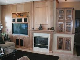 furniture beige wooden shelves and fireplace complete with glass doors cabinet inspiring fireplace shelving