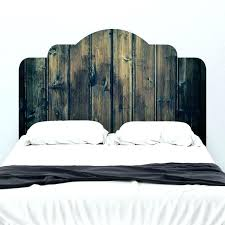 adhesive headboard stained wood mount wall decal on king size w