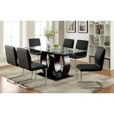 gloss dining table black