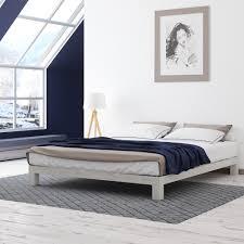 motif design aura white platform bed  white platform bed motif