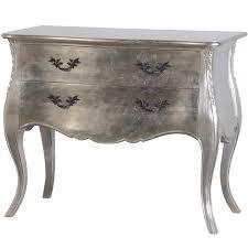 Silver Leaf Bedroom Furniture Tiffany Silver Leaf Chest Of Drawers Silver Bedroom Alb68500