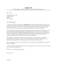 Computer Programmer Cover Letter Example Pernillahelmersson