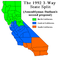 Jeff Stone's new state of South California, in red. | Map by Chris Clarke