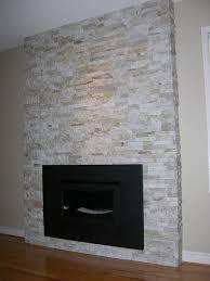 stone veneer fireplace contemporary family room