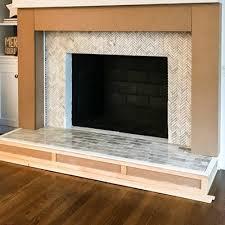 a fireplace installation
