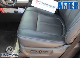 2016 2016 ford f 250 platinum perforated leather seat cover driver bottom brown