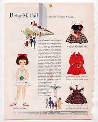 vine betsy mccall visits the united nations paper dolls september 1959 uncut