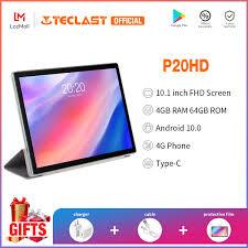 Giảm giá hấp dẫn + Ưu đãi flash】 Máy tính bảng Teclast P20HD / Màn hình  10.1 inch FHD / 4GB RAM 64GB ROM / Phablet hai SIM / Phim Intalled /