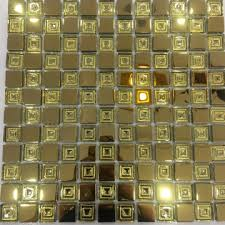 low background wal golden color glass mosaic tile