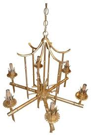 palm beach paa gold faux bamboo chandelier modern chandeliers