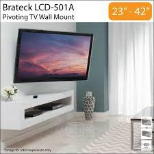 brateck lcd 501a 23 42 inch tilt swivel tv wall mount