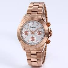 online get cheap popular watch brands for men aliexpress com popular julius brand fashion men casual watch analog chronograph clock stainless steel men 39