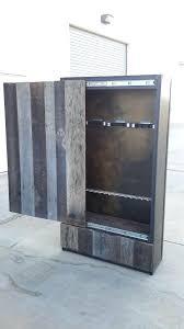 Barnwood Sliding Door Reclaimed Oak Gun Cabinet With Sliding Door ...