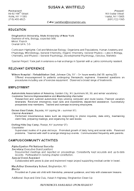 resumes samples for college students. student resumes samples example resume  ...