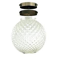 4 inch glass globes 2 1 4 inch diamond cut clear glass globe shade kit with