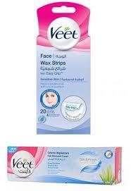 veet face hair removal wax strip 20