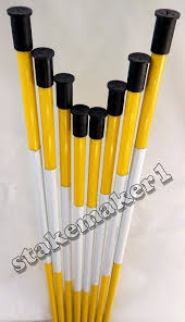 driveway markers snow stakes 100 pack of 48 inch long yellow reflective markers 94922448934