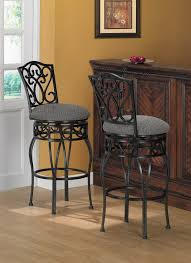 30 Inch Round Kitchen Table Round Brown Leather Counter Stools With Brown Metal Base On Light