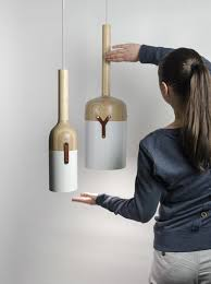 nut c pendant lamp collection has a cool bottle resembling design and is made of a