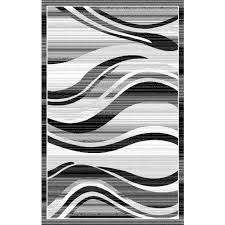 black white and grey rug modern waves silver area rug black white grey wave stripes grey