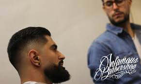 Beard And Hair Style classic mens haircut mid skin fade faded beard b over 8508 by wearticles.com