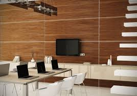 office color scheme ideas. Fabolous Wood Paneling In Medium Brown Color Combine With White Chair Also Stair For Modern Office Scheme Idea Ideas