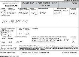 Similiar Faa Ifr Flight Plan Keywords