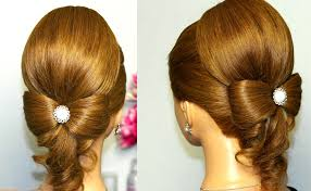 Bows In Hair Style hairstyle for long hair hair bow wedding updo tutorial youtube 7755 by wearticles.com