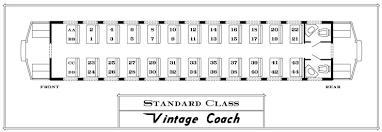 Train Bogie Chart Coach Seating Durango Silverton Narrow Gauge Railroad Train