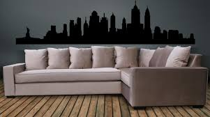 zoom on new york skyline wall art stickers with new york city skyline wall decal wall art sticker