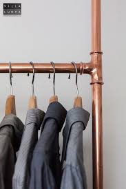 Copper Pipe Coat Rack Impressive DIY Clothes Rack From Copper Pipe Villa Luova Our House